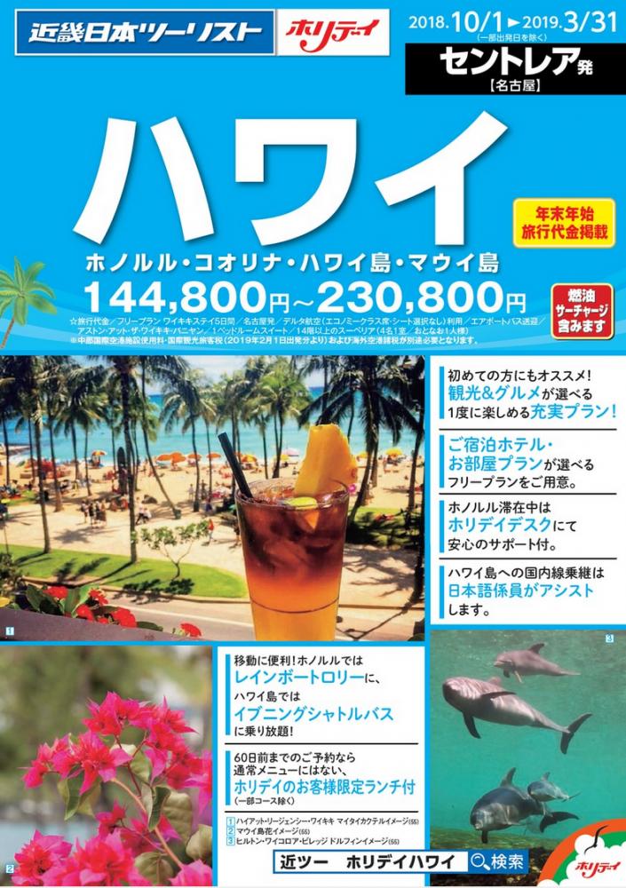 ハワイ(ホノルル・コオリナ・ハワイ島・マウイ島)